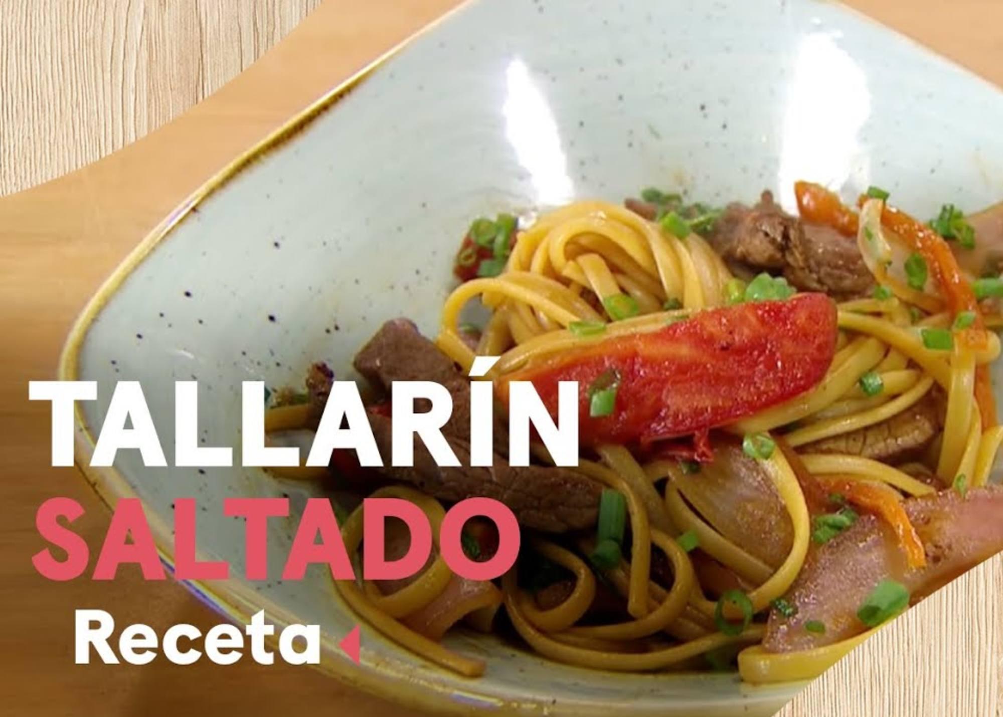 Tallarína saltado Luciano Mazzetti
